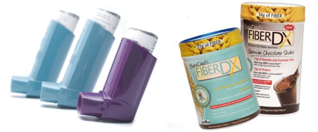 inhalers in different colors