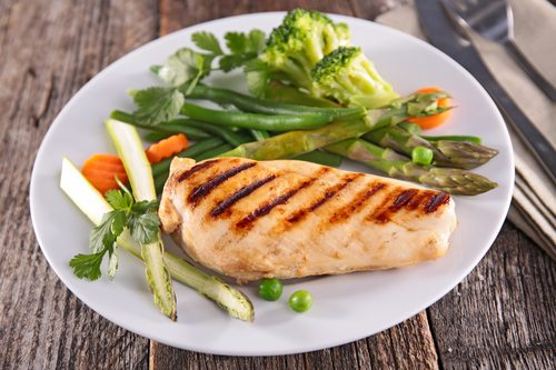 chicken breast and asparagus